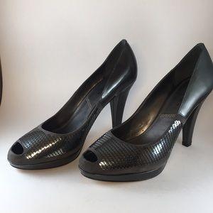 Tahari Grey sequined heels